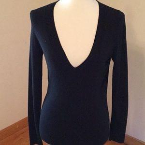 Banana Republic V neck sweater, very soft, 50%silk
